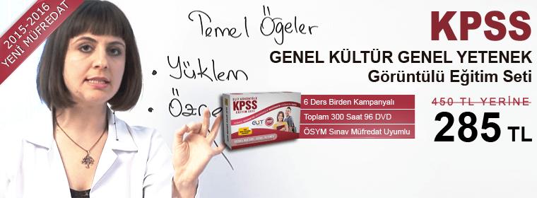 KPSS Genel Kültür Genel Yetenek+Eğitim Bilimleri Tüm Dersler Görüntülü Eğitim Seti Kampanya