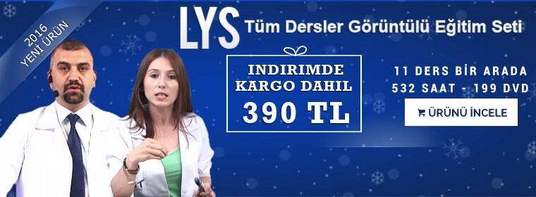 LYS Tüm Dersler Görüntülü Eğitim Seti Kampanya Sadece 390 TL