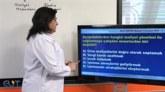 Açıköğretim Maliyet Yönetimi Soru Bankası