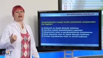 Açıköğretim Üretim Yönetimi Soru Bankası