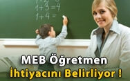 MEB Öğretmen İhtiyacını Belirliyor